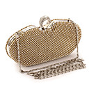 cheap Clutches & Evening Bags-Women's Bags Metal Evening Bag Crystal / Rhinestone Gold / Black / Silver / Wedding Bags / Rhinestone Crystal Evening Bags / Rhinestone Crystal Evening Bags / Wedding Bags