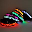 olcso Nyakörvek és pórázok-Cica Kutya Gallérok LED fények Állítható / Behúzható Egyszínű Műanyag Sárga Piros Zöld Kék Rózsaszín