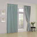 cheap Blackout Curtains-Rod Pocket Grommet Top Tab Top Double Pleat Two Panels Curtain Modern Solid Living Room Polyester Material Blackout Curtains Drapes Home