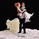 billige Tilbehør til herrer-Kakepynt Blomster Tema Klassisk Tema Klassisk Par Harpiks Bryllup med Gaveeske