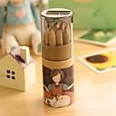 abordables Escritura-lápiz de la pintura del color del modelo 12 de la muchacha de la historieta (12 PC / sistema) para la escuela / la oficina