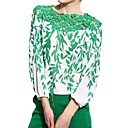cheap Synthetic Capless Wigs-Women's Casual Blouse - Floral