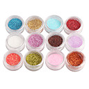 cheap Nail Glitter-12 pcs Glitter Powder Nail Jewelry nail art Manicure Pedicure Daily Abstract / Fashion