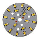baratos LEDs-Zdm 1 pc 9 w 500-550lm 18 x 5730 smd leds remendo fonte de luz placa de fonte de luz branca quente 3000-3500 k substrato de alumínio (dc21-24v, 300ma)