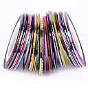 cheap Nail Stickers-38pcs mixed colors rolls striping tape line nail art decoration sticker