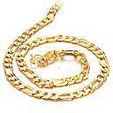 זול אומנות ממוסגרת-בגדי ריקוד גברים שרשרת - ציפוי זהב 18 קאראט, ציפוי זהב נשים מוזהב שרשראות תכשיטים עבור Christmas Gifts, חתונה, Party