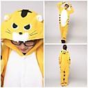 preiswerte Kigurumi Pyjamas-Erwachsene Tiger Pyjamas-Einteiler Korallenfleece Gelb Cosplay Für Herren und Damen Tiernachtwäsche Karikatur Fest / Feiertage Kostüme