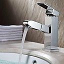 cheap Bathroom Sink Faucets-Contemporary Widespread Rotatable Ceramic Valve Single Handle One Hole Chrome, Bathroom Sink Faucet