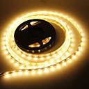 billige Kornpærer med LED-JIAWEN 5 m Fleksible LED-lysstriper 60 LED 5730 SMD Varm hvit Dekorativ / Passer for kjøretøy / Selvklebende 12 V 1pc / IP44