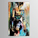 cheap Landscape Paintings-Oil Painting Hand Painted - People Modern Canvas