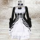 זול תחפושות מבוגרים-לוליטה גותי לוליטה בגדי ריקוד נשים שמלות Cosplay שחור נשף שרוול ארוך אורך בינוני מידות גדולות מותאם אישית תחפושות
