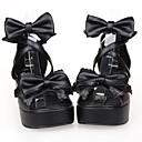 hesapli Lolita Perukları-Ayakkabılar Klasik / Geleneksel Lolita Platform Ayakkabılar Fiyonk Düğüm 6 cm CM Uyumluluk PU Deri / Poliüretan Deri Cadılar Bayramı Kostümleri