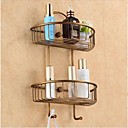 cheap Bathroom Shelves-Bathroom Shelf Antique Brass 1 pc - Hotel bath