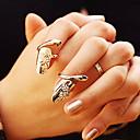 baratos Anéis-Mulheres Anel de declaração - Strass, Imitações de Diamante, Liga Personalizada, Fashion 4 Dourado / Prata Para Festa / Diário / Casual