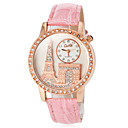 preiswerte Zentai Kostüme-Damen Armbanduhr Japanisch Armbanduhren für den Alltag PU Band Glanz / Eiffelturm / Modisch Schwarz / Weiß / Rot / Ein Jahr / SSUO SR626SW