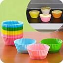 preiswerte Backformen-6 stücke weichen silikon backform muffin halter runde cupcake backen tasse