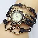 preiswerte Armband-Uhren-Damen Armband-Uhr Schlussverkauf PU Band Heart Shape / Böhmische / Modisch Schwarz / Weiß / Blau