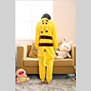 cheap Kigurumi Pajamas-Kid's Kigurumi Pajamas with Slippers Pika Pika Onesie Pajamas Costume Coral fleece Yellow Cosplay For Animal Sleepwear Cartoon Halloween Festival / Holiday