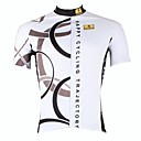 cheap Men's Athletic Shoes-ILPALADINO Men's Short Sleeve Cycling Jersey - White Bike Jersey, Quick Dry, Ultraviolet Resistant, Breathable