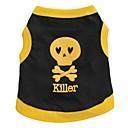 halpa Koiran vaatteet-Kissa Koira T-paita Koiran vaatteet Sydän Pääkallot Musta Keltainen Sininen Musta/keltainen Puuvilla Asu Lemmikit