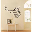 preiswerte Wand-Sticker-Dekorative Wand Sticker - Flugzeug-Wand Sticker Abstrakt Stillleben Romantik Mode Blumen Wohnzimmer Esszimmer Mädchen Zimmer