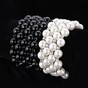 preiswerte Modische Armbänder-Damen Klar Schwarz - Künstliche Perle Kette Armbänder Weiß / Schwarz Für Hochzeit Party Besondere Anlässe
