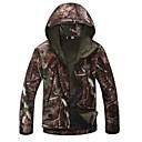 ieftine Cizme Bărbați-Jachetă Camuflaj de Vânătoare Bărbați Impermeabil / Keep Warm / Rezistent la Vânt camuflaj Iarnă Fleece Jachetă / Hanorac cu Glugă / Jachete Softshell Manșon Lung pentru Camping & Drumeții