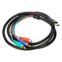 halpa USB-HDMI 3RCA komponentti-AV-sovittimella kaapeli 1.5m 5ft