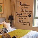 cheap Wall Stickers-Words & Quotes Wall Stickers Plane Wall Stickers Decorative Wall Stickers Fridge Stickers, Vinyl Home Decoration Wall Decal Wall