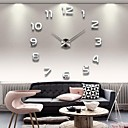 "cheap High Quality Duvet Covers-39""W DIY 3D Mirror Numbers Acrylic Sticker Wall Clock"