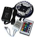 baratos Luz LED Ambiente-ZDM® 5m Conjuntos de Luzes 300 LEDs 5050 SMD 1 controlador remoto de 24Keys / 1 x adaptador de 12V 3A RGB Cortável / Festa / Decorativa 12 V / Auto-Adesivo