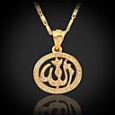 preiswerte Modische Halsketten-Synthetischer Diamant Anhängerketten / Vintage Halskette - Krystall, Strass, vergoldet nette Art Gold Modische Halsketten Für