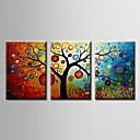 cheap Prints-Oil Painting Hand Painted - Abstract Modern Canvas