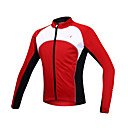 cheap Cycling Jackets-SANTIC Men's Cycling Jacket Bike Jacket / Jersey / Top Thermal / Warm, Windproof, Fleece Lining Patchwork Spandex, Fleece Red Bike Wear
