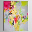 abordables Cuadros Abstractos-Pintura al óleo pintada a colgar Pintada a mano - Abstracto Clásico Lona
