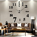 cheap Stretched Canvas Prints-Modern / Contemporary Stainless Steel Round Indoor,AA Wall Clock