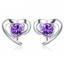 cheap Rings-Women's Stud Earrings - Sterling Silver Vintage, Party, Work Purple For Daily