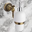 cheap Soap Dispensers-Soap Dispenser / Antique Bronze Brass Ceramic /Antique