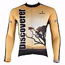 halpa Pyöräilyjerseyt-ILPALADINO Miesten Pitkähihainen Pyöräily jersey Pyörä Jersey, Pidä lämpimänä, Nopea kuivuminen, Ultraviolettisäteilyn kestävä
