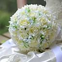 "baratos Bouquets de Noiva-Bouquets de Noiva Buquês Casamento Seda 12.2""(Aprox.31cm)"