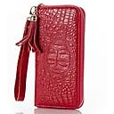 preiswerte Regeneffekte Duschköpfe-Damen Taschen Leder Handgelenk-Tasche Reißverschluss Braun / Rot / Blau