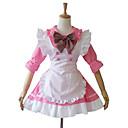 cheap Lolita Dresses-One-Piece/Dress Maid Suits Sweet Lolita Lolita Cosplay Lolita Dress Patchwork Short Length Dress Apron For Cotton