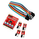 cheap Modules-4-Way Infrared Tracing Transmission Line Modules Car Robot Sensors for Arduino