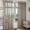 cheap Sheet Sets & Pillowcases-Sheer Curtains Shades Bedroom Leaf Polyester Jacquard