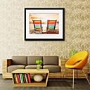 ieftine Picturi Abstracte-Pânză Înrămată Set Înrămat Peisaj Wall Art, PVC Material cu Frame Pagina de decorare cadru Art Sufragerie Dormitor Bucătărie Birou
