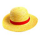 זול אביזרי קוספליי אנימה-כובע קיבל השראה מ One Piece Monkey D. Luffy אנימה אביזרי קוספליי כובע חבל קש בגדי ריקוד גברים