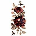 abordables Tatuajes Temporales-#(1) Tatuajes Adhesivos Los tatuajes temporales Series de Flor Impermeable Artes de cuerpo / Brillante / Modelo / Waterproof