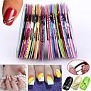 billige Rhinsten&Dekorationer-30pcs blandet farver ruller striping tape line nail art dekoration mærkat