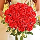 """זול פרחי חתונה-פרחי חתונה זרים חתונה פּוֹלִיאֶסטֶר משי 9.84""""(לערך.25ס""""מ)"""