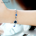 cheap Bracelets-Women's Crystal Layered Charm Bracelet - Multi Layer Bracelet Royal Blue For Party / Daily / Casual